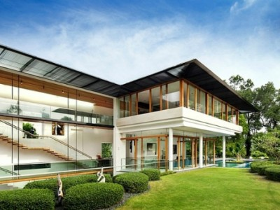 The Spectacular Tropical Singapore Bungalow by Guz Architects