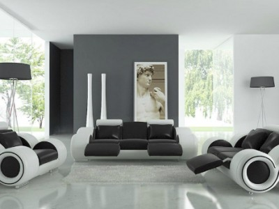 Black modern house decoration ideas