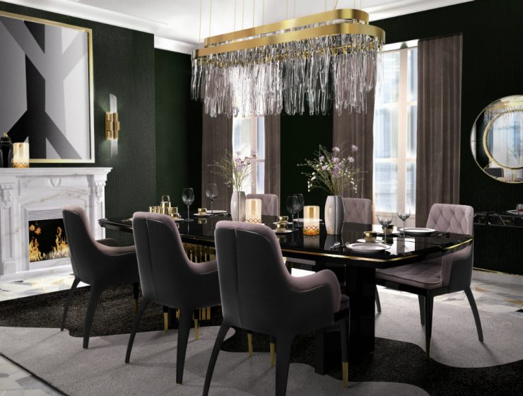 Luxury Dining Room Asian Interior Design