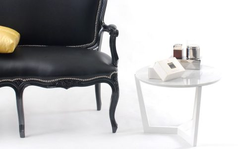 Luxury Black and White Side Tables